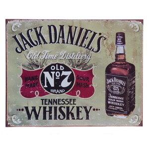 Metalen reclame plaat Jack Daniels No7
