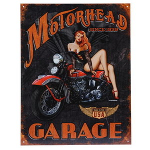 Metalen reclame plaat Motorhead garage