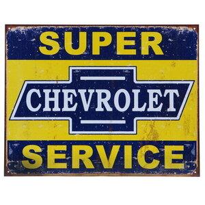 Metalen reclame plaat Chevrolet Super Service