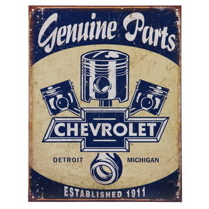 Metalen reclame plaat Chevrolet Genuine Parts