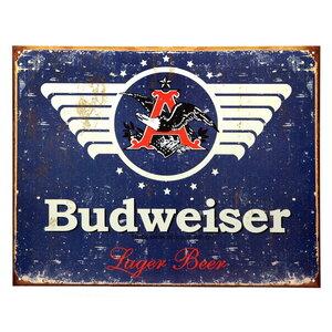 Metalen reclame plaat Budweiser lager Beer
