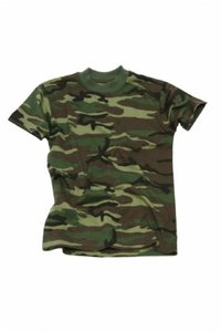 Kinder leger camouflage t-shirt Km