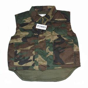 Kinder leger camouflage bodywarmer.