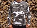 Kinder leger camouflage t-shirt lang mouw urban